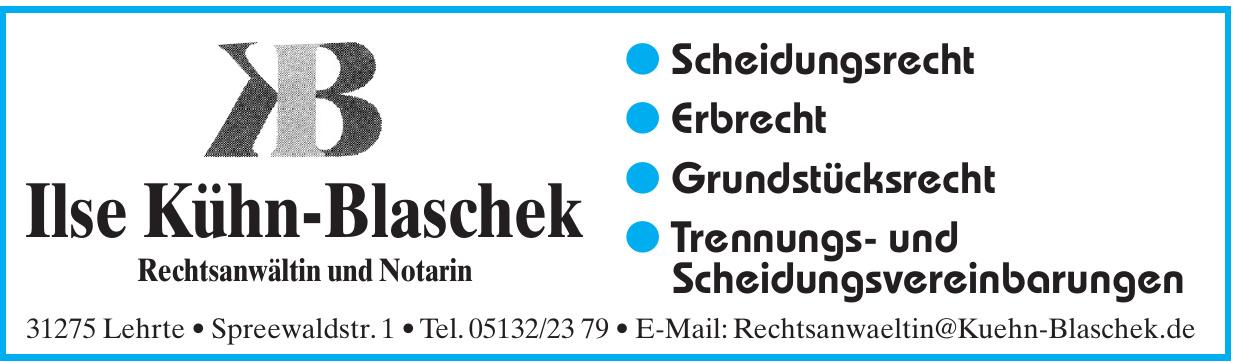 Ilse Kühn-Blaschek Rechtsanwältin und Notarin