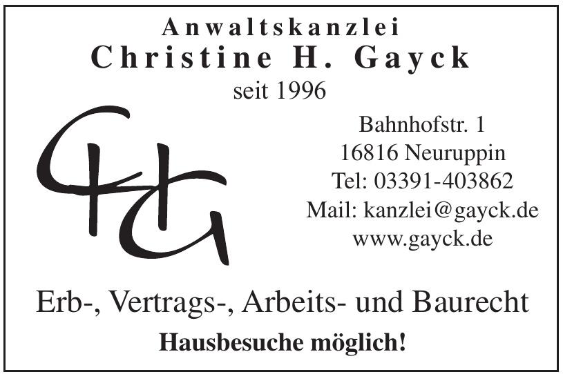 Anwaltskanzlei Christine H. Gayck