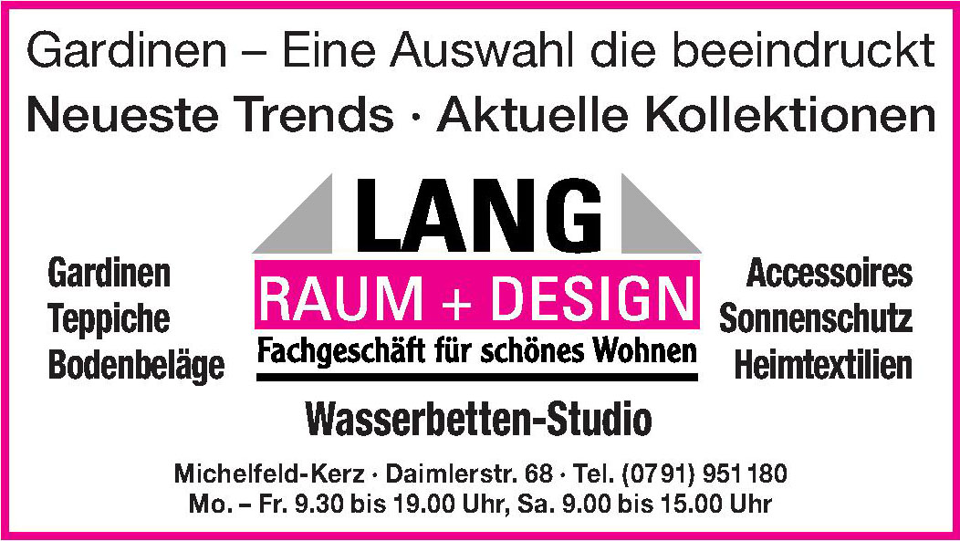 Lang Raum + Design