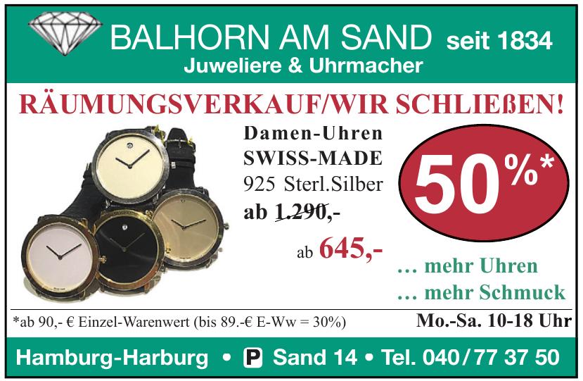 Juweliere & Uhrmacher Balhorn am Sand