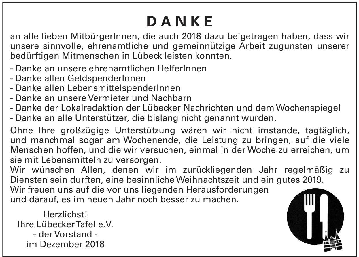 LübeckerTafel e.V. - der Vorstand
