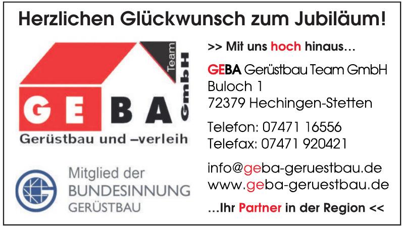 GEBA Gerüstbau Team GmbH