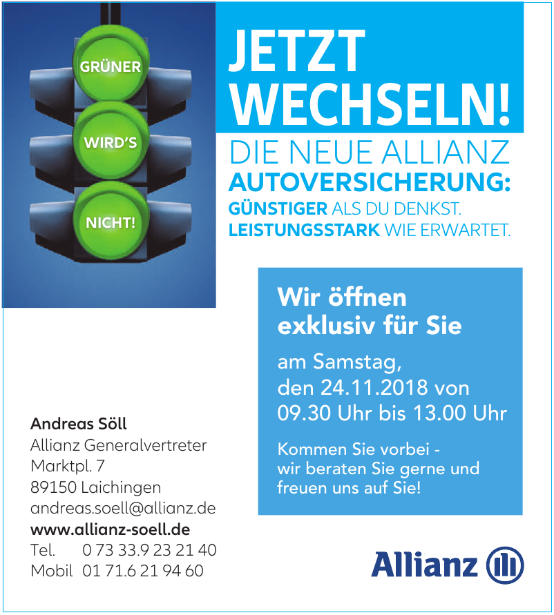 Allianz Versicherung Andreas Söll Generalvertretung