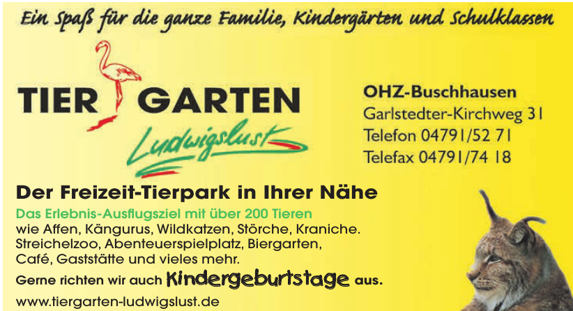 Tiergarten Ludwigslust