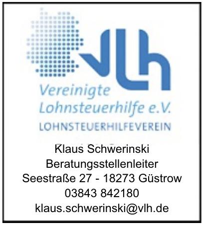 Vereinigte Lohnsteuerhilfe e.V Klaus Schwerinski