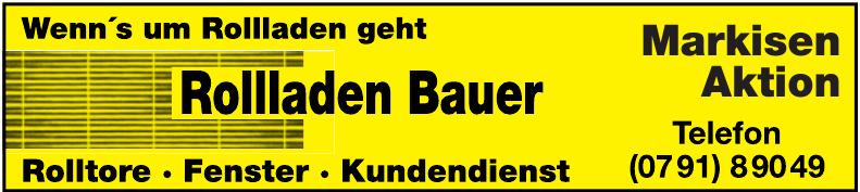 Rollladen Bauer