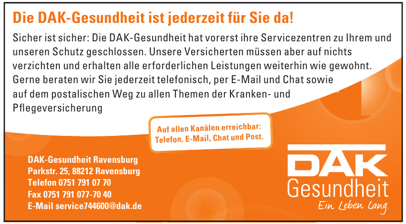 DAK-Gesundheit Ravensburg