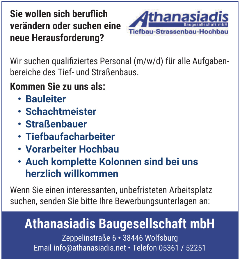 Athanasiadis Baugesellschaft mbH