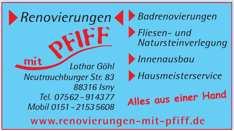 Renovierungen mit Pfiff