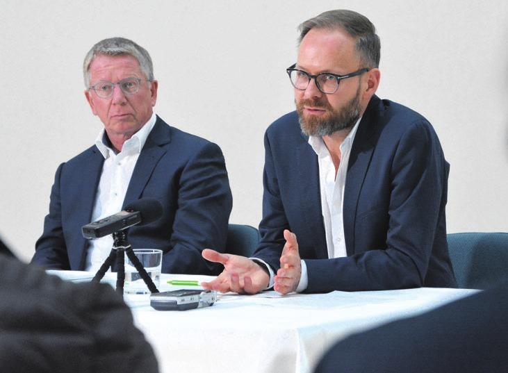 Interimsdirektor Otmar Böhmer und designierter Museumschef Andreas Beitin (von links).