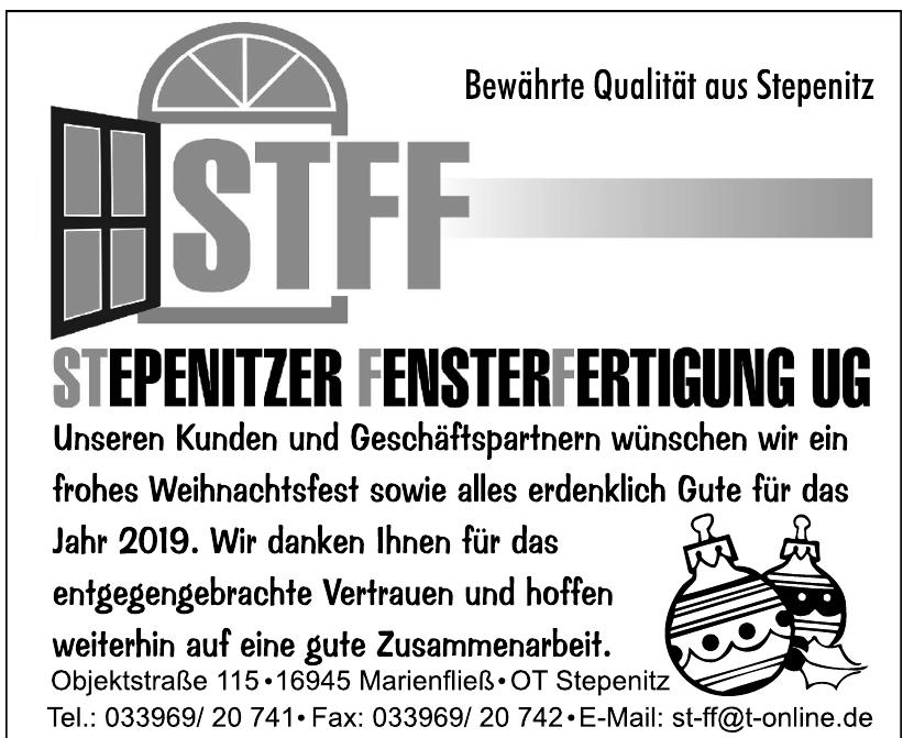 STFF Stepenitzer Fensterfertigung UG