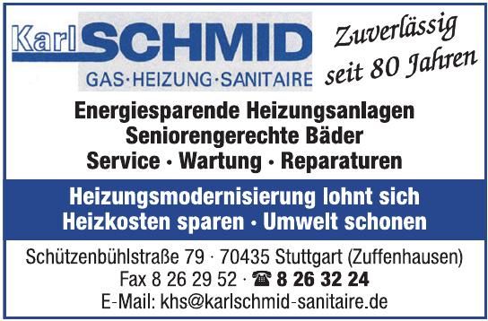 Karl Schmid Gas-Heizung-Sanitaire