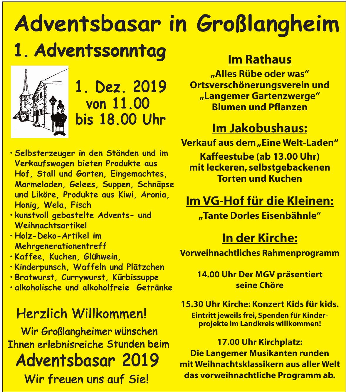 Adventsbasar in Großlangheim