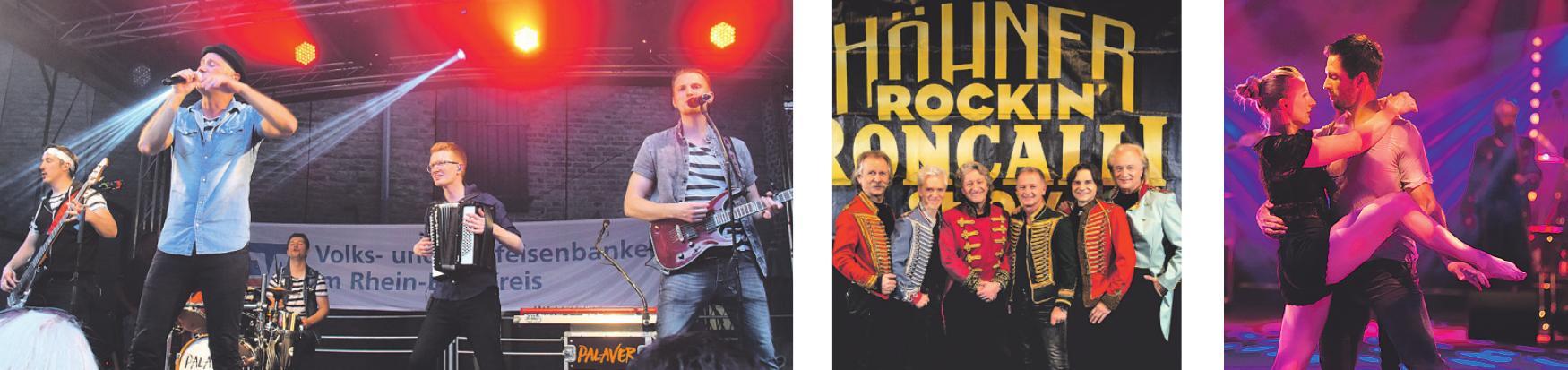 Die Volksbank ist offizieller Partner der Band Palaver. 2017 besuchten Kunden und Mitglieder Rockin' Roncalli ... und bewunderten Tanz- und Gesangseinlagen.