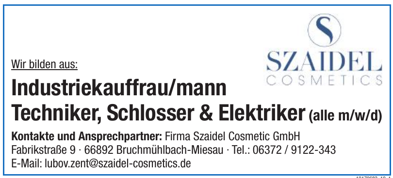 Firma Szaidel Cosmetic GmbH