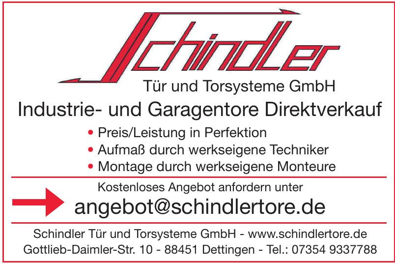 Schindler Tür und Torsysteme GmbH