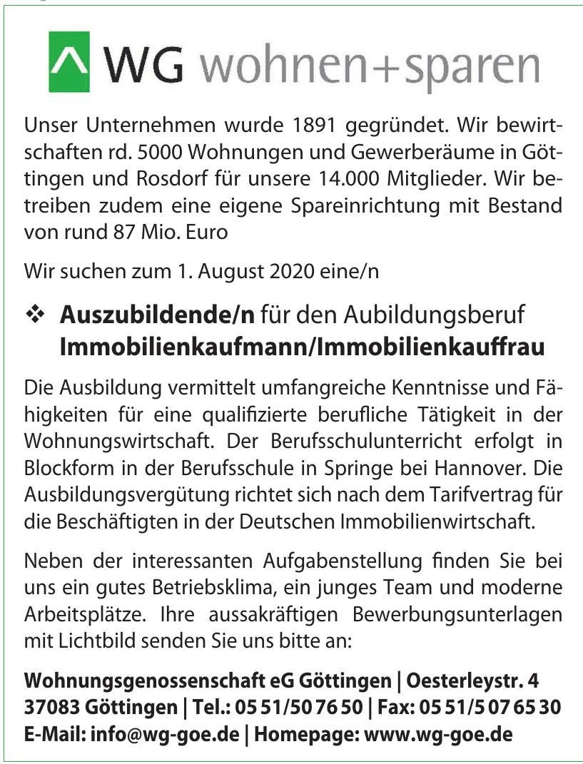 Wohnungsgenossenschaft eG Göttingen