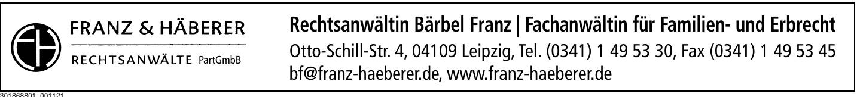 Rechtsanwältin Bärbel Franz