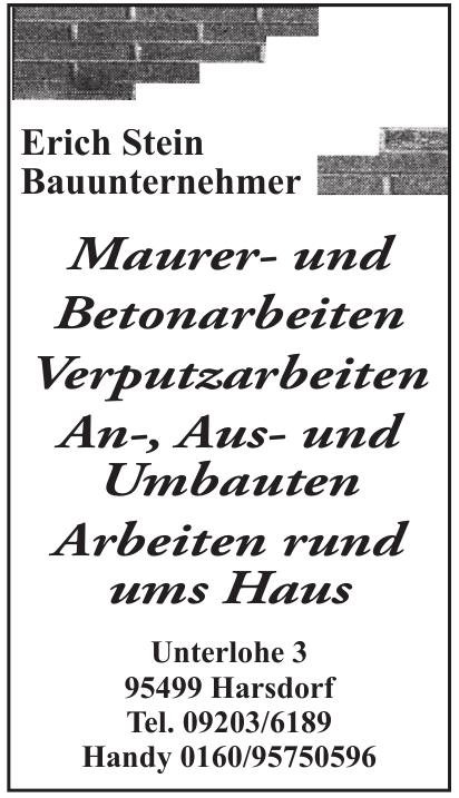 Erich Stein Bauunternehmer