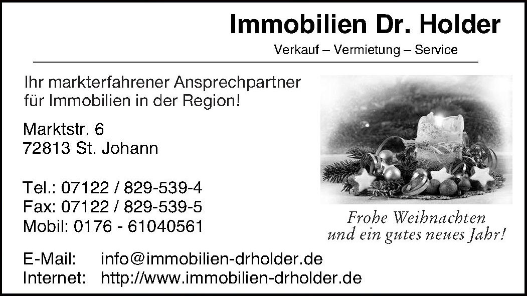 Immobilien Dr. Holder