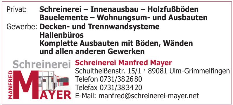 Schreinerei Manfred Mayer