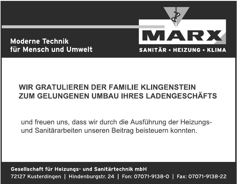 Marx Gessellschaft für Heizungs- und Sanitärtechnik mbH