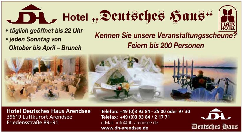 Hotel Deutsches Haus, Arendsee/Altmark