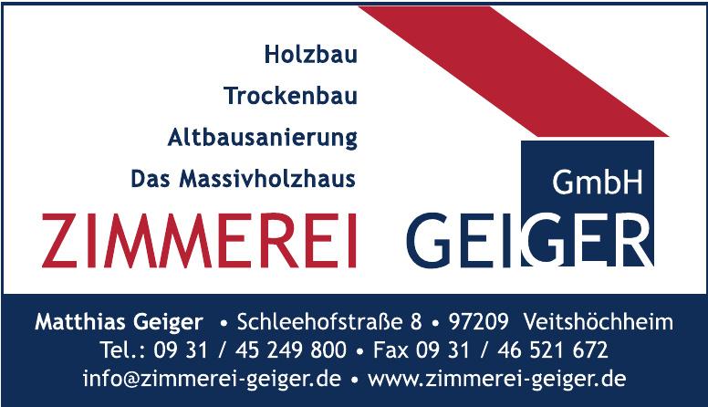 Zimmerei Geiger GmbH