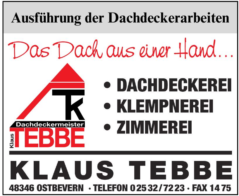 Dachdeckermeister Klaus Tebbe