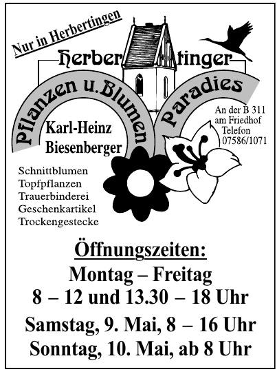 Herbertinger Plfanzen u. Blumen Paradies