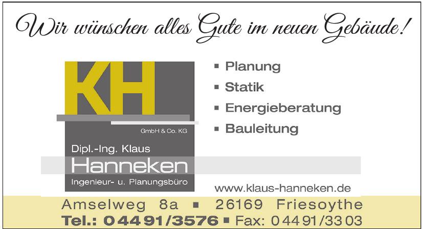 Dipl.-Ing. Klaus Hanneken Ingenieur- u. Planugsbüro GmbH & Co. KG
