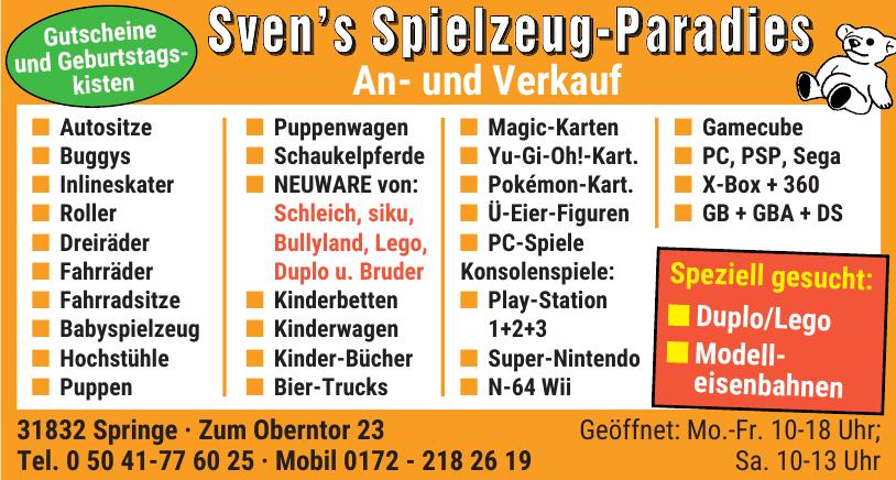 Sven's Spielzeug-Paradies