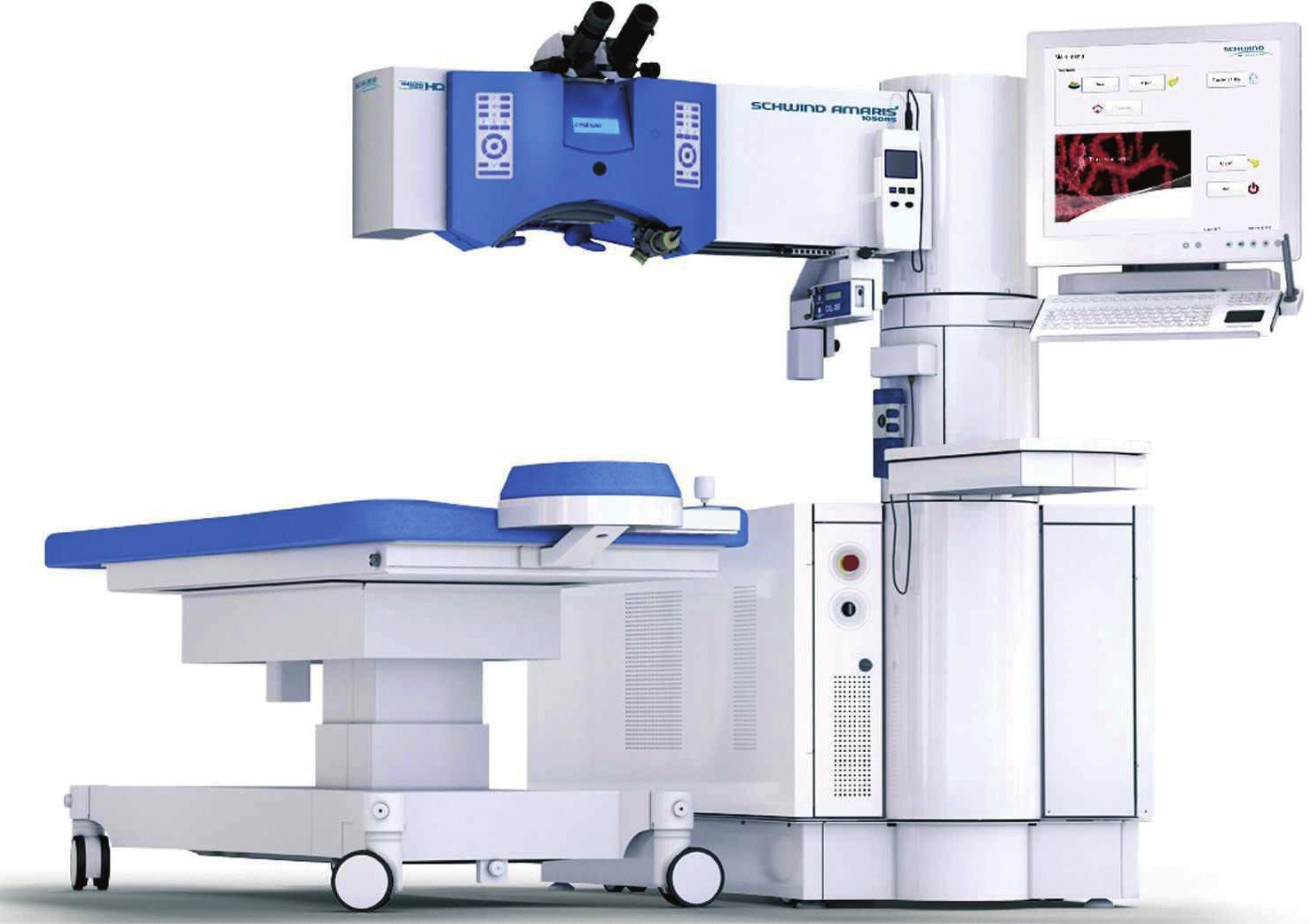 SmartSurfACE Augenlaserbehandlung mit dem Schwind Amaris 1050 RS minimiert die Behandlungszeit. Der Hersteller gibt Regensburg als Referenzadresse an.