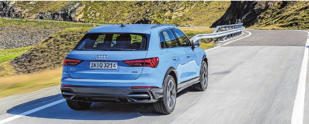 Den kompakten Familien-SUV Audi Q3 gibt es auch in der neuen Farbe Turboblau.