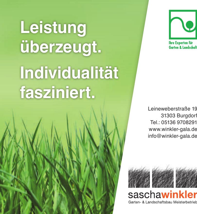 Sascha Winkler Garten- & Landschaftsbau Meisterbetrieb