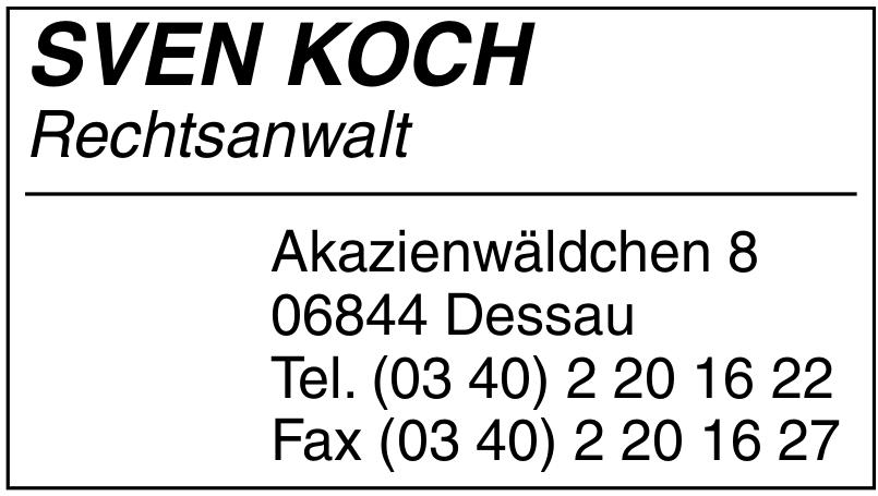Sven Koch Rechtsanwalt