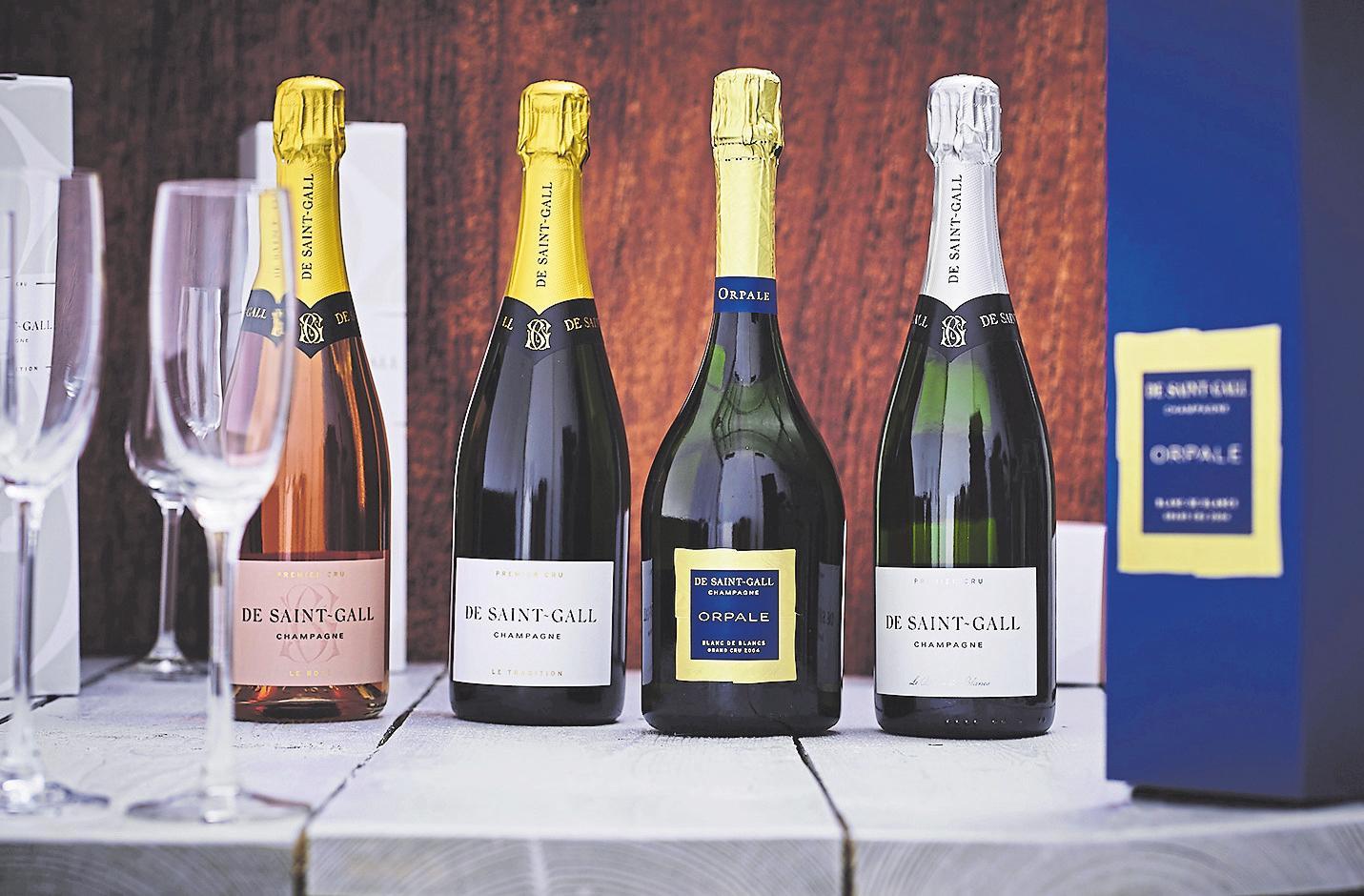 Unter der Marke De Saint-Gall werden vier Grand-Cru- und PremierCru-Champagner angeboten. Foto: Cactus