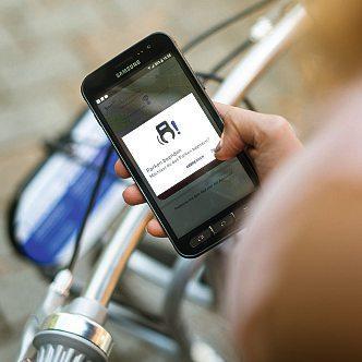 Mit der App kann mannextbike an der Station leichtdasentlehnen und auch wiederzurückgeben.Foto: Nextbike
