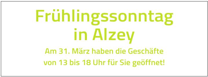 Frühlingssonntag in Alzey