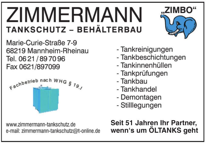 Zimmermann Tankschutz-Behäterbau