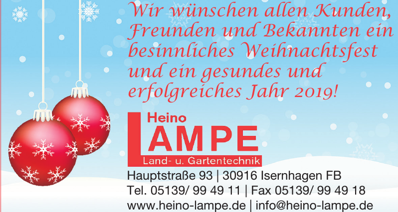 Heino Lampe Land- u. Gartentechnik