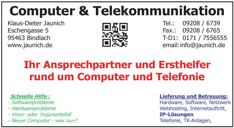 Computer & Telekommunikation Klaus-Dieter Jaunich