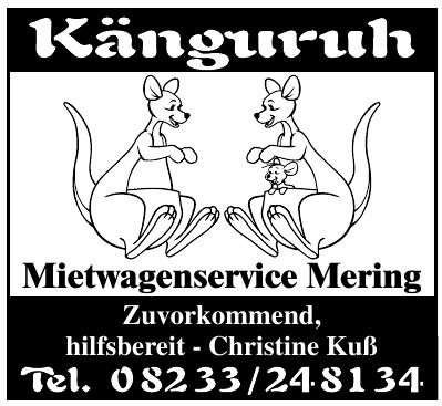 Känguruh - Mietwagenservice Mering
