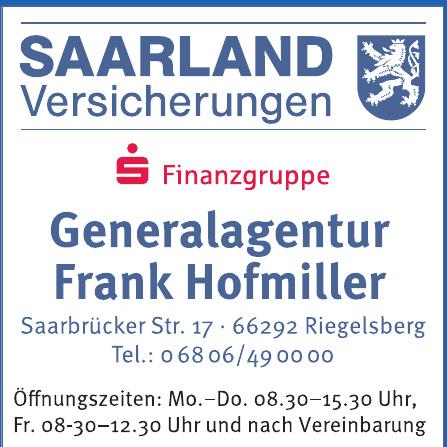 Saarland Versicherungen - Generalagentur Frank Hofmiller