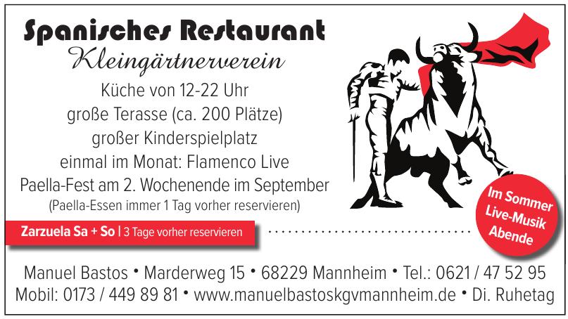 Spanisches Restaurant Kleingärtnerverein Manuel Bastos