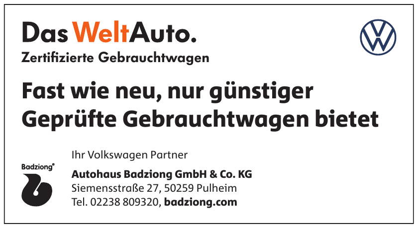 Autohaus Badziong GmbH&Co. KG