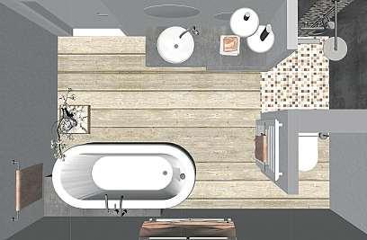 Auch aus einem kleinen, unscheinbaren Bad lässt sich eine Wohlfühloase zaubern. FOTO: JA.GEBHARDT