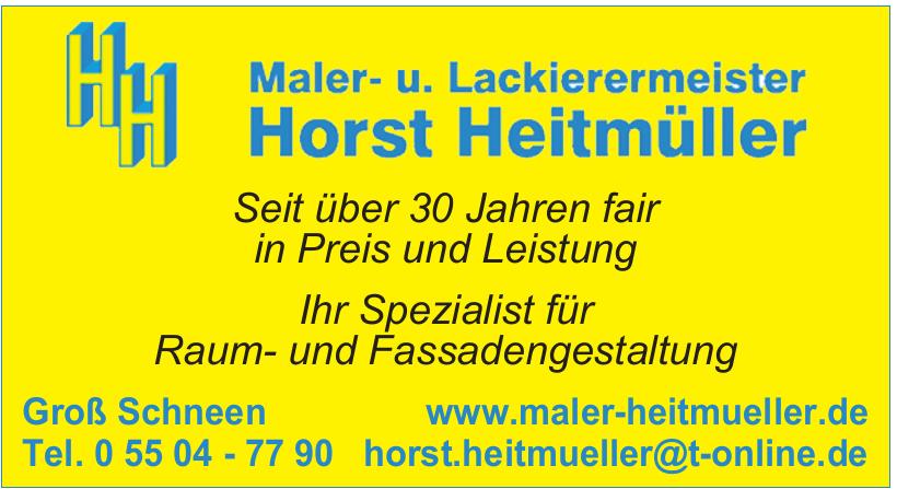 Maler- u. Lackierermeister Horst Heitmüller