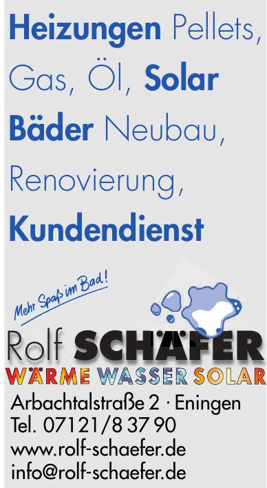 Rolf Schäfer - Wärme, Wasser, Solar