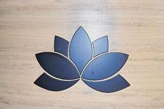 Logo mit Bedacht gewählt: Beim Yoga hat die Lotusblume eine besondere Bedeutung, denn sie steht für Erleuchtung und das Dritte Auge. Foto: B. Deeken
